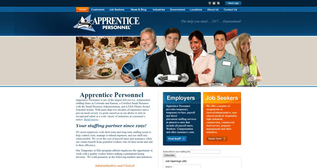 apprentice personnel old site