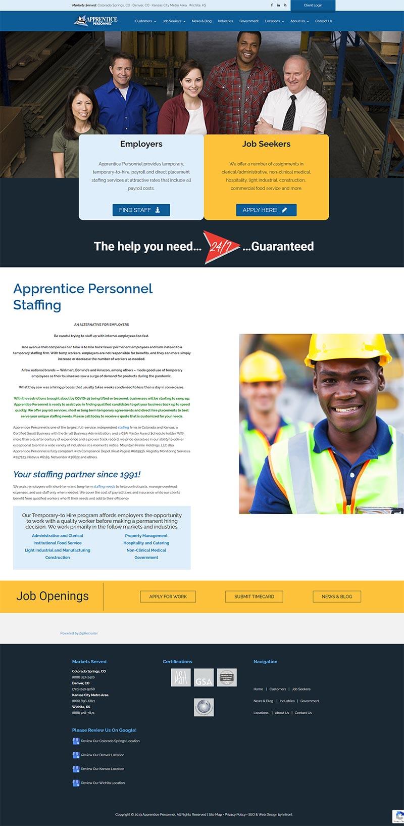 apprentice personnel full screenshot