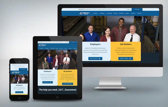 apprentice personnel responsive website design