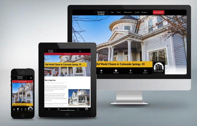 the st marys inn bed and breakfast website responsive