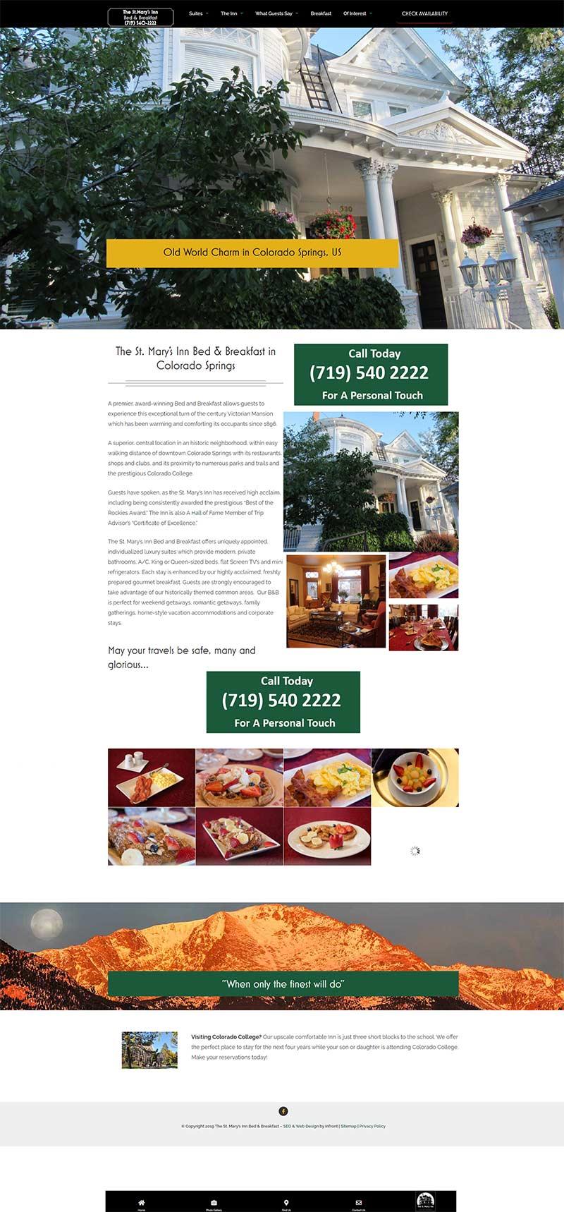 saint marys inn bed and breakfast full screenshots